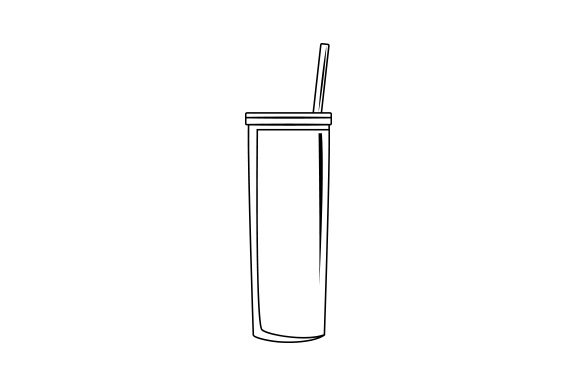 Skinny Tumbler Mockup Cut File Download