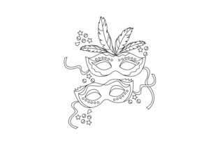 Carnival Colouring Page Mardi Gras Craft Cut File By Creative Fabrica Crafts