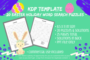 Print on Demand: 20 Easter Word Search Puzzles for KDP Graphic KDP Interiors By Tomboy Designs