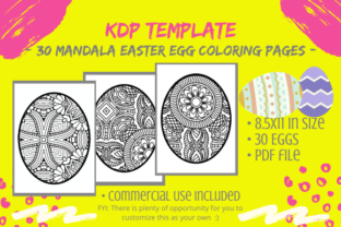 Print on Demand: 30 Easter Egg Mandalas Coloring Pages Graphic KDP Interiors By Tomboy Designs