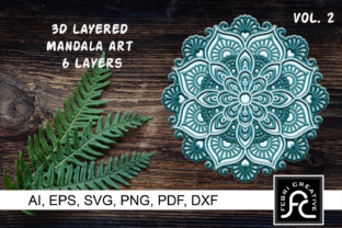 Print on Demand: 3D Layered Mandala Art - SVG Graphic 3D SVG By Febri Creative