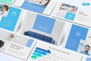 Acile - Business Powerpoint Template Graphic Presentation Templates By Unicode Studio