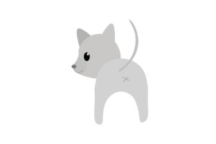 Adorable Gray Dog Graphic Illustrations By harunikaart