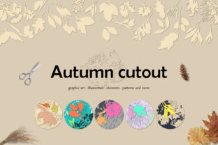 Autumn Cutout Graphic Illustrations By Mona Ahmed