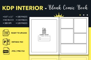 Print on Demand: Blank Comic Book Template - KDP Interior Graphic KDP Interiors By KDP King