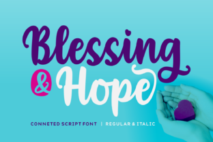 Print on Demand: Blessing & Hope Script & Handwritten Font By Situjuh
