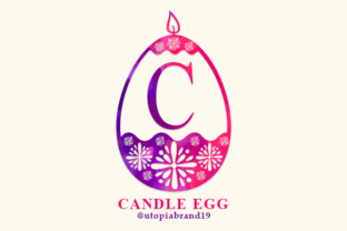 Print on Demand: Candle Egg Decorative Font By utopiabrand19