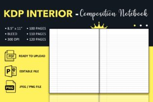 Print on Demand: Composition Notebook Wide Ruled - KDP Graphic KDP Interiors By KDP King