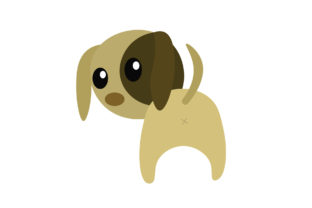 Cute Dog with Striped Face Graphic Illustrations By harunikaart