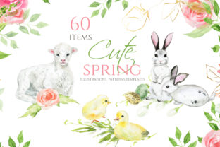 Cute Spring Clipart Graphic Illustrations By lena-dorosh