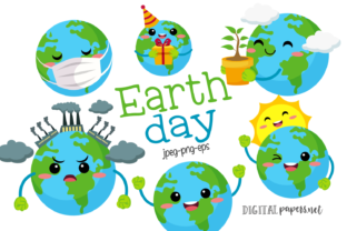 Print on Demand: Earth Day Clipart Graphic Illustrations By DigitalPapers