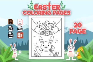 Print on Demand: Easter Coloring Pages - KDP Interior Grafik Ausmalseiten & Malbücher für Kinder von Cute Coloring