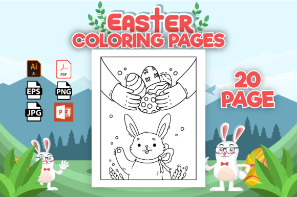 Print on Demand: Easter Coloring Pages - KDP Interior Graphic Coloring Pages & Books Kids By Cute Coloring