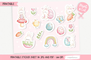Print on Demand: Easter Printable Stickers, Sticker Sheet Graphic Crafts By Chonnieartwork