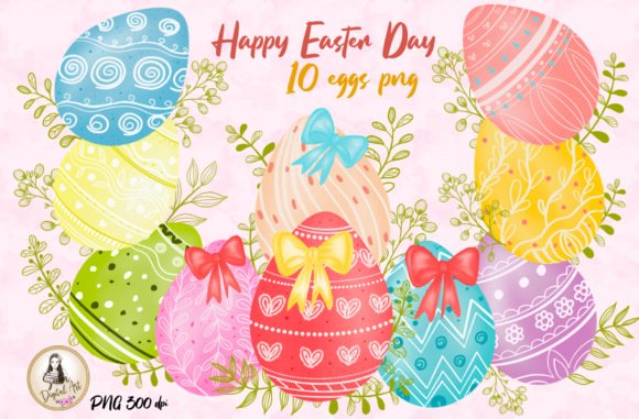 Print on Demand: Easter Egg Cute Clipart Graphic Illustrations By Suda Digital Art