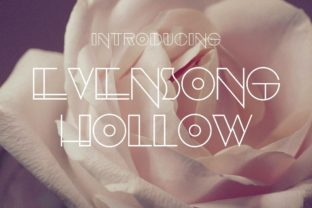 Print on Demand: Evensong Hollow Decorative Font By Typodermic