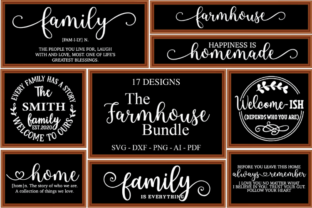 Farmhouse Sign SVG Bundle, Farmhouse Quo Grafik Plotterdateien von Rumi Designed