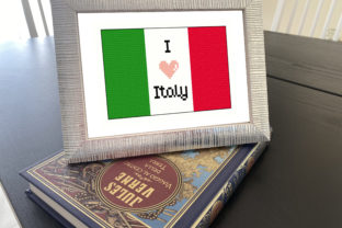 Flag of Italy Cross Stitch Pattern Graphic Illustrations By stitchinbess