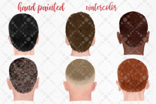Print on Demand: Hairstyles Clipart Male Hairstyles Graphic Illustrations By LeCoqDesign 2