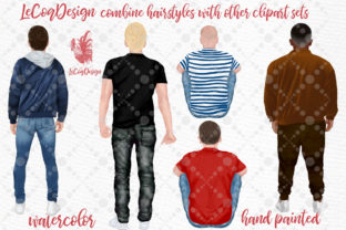 Print on Demand: Hairstyles Clipart Male Hairstyles Graphic Illustrations By LeCoqDesign 3