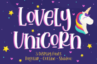 Print on Demand: Lovely Unicorn Script & Handwritten Font By Gilar Studio
