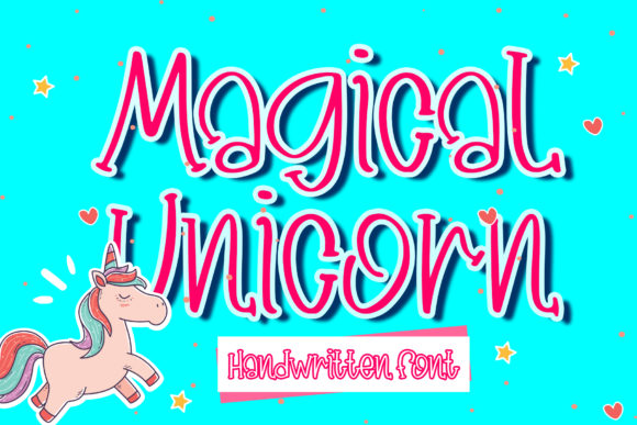 Print on Demand: Magical Unicorn Display Font By boogaletter