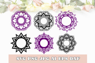 Mandala Monogram Svg Dxf Png Jpg Eps Ai Graphic Print Templates By TheCrafterDepot