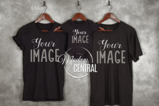 Matching Family Black T-Shirts Mockup Graphic Product Mockups By Mockup Central
