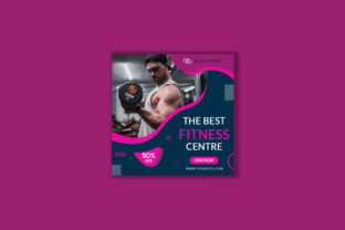 Modern Gym Post Social Media Banner Graphic Graphic Templates By evansifat2
