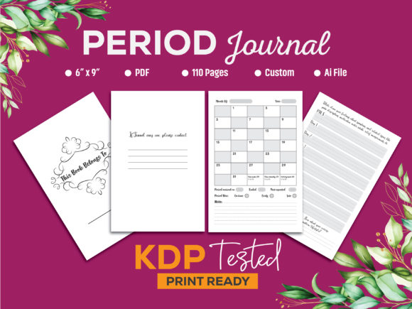 Period Journal for Girls KDP Interior Graphic KDP Interiors By GraphicTech360