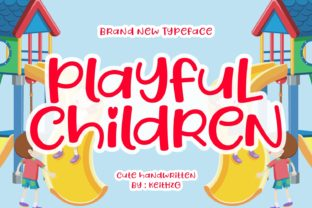 Print on Demand: Playful Children Script & Handwritten Font By Keithzo (7NTypes)