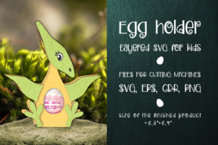 Print on Demand: Pteranodon - Chocolate Egg Holder Templa Graphic 3D SVG By Olga Belova
