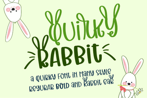 Print on Demand: Quirky Rabbit Display Font By BitongType