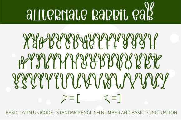 Quirky Rabbit Font Preview