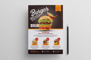 Restaurant Food Burger Flyer Template Graphic Print Templates By Design_Stocks
