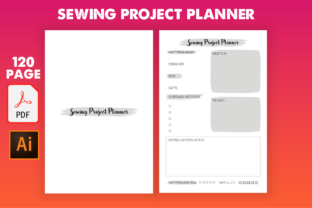Print on Demand: Sewing Project Planner Graphic KDP Interiors By Cute Coloring