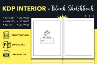 Print on Demand: Blank Sketchbook - KDP Interior Template Graphic KDP Interiors By KDP King