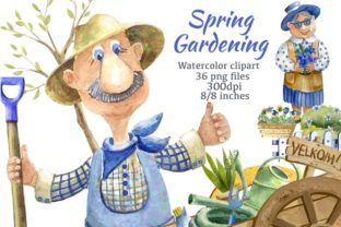 Spring Gardening Clipart Graphic Illustrations By Marine Universe