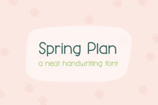 Print on Demand: Spring Plan Script & Handwritten Font By Jyllyco