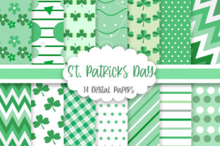 St. Patricks Day Digital Papers Graphic Backgrounds By PinkPearly
