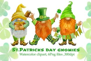 St Patricks Day Gnome Watercolor Graphic Illustrations By Marine Universe