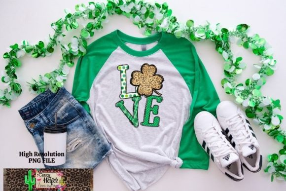St Patrick's LOVE Dye Sublimation PNG Graphic Preview