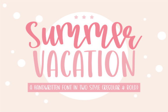 Print on Demand: Summer Vacation Script & Handwritten Font By BitongType