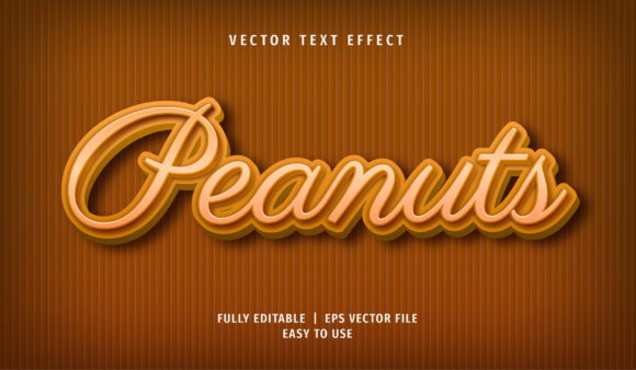 Text Effect - Peanuts Text Style Graphic Layer Styles By Arroyan Art
