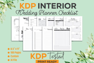 Wedding Planner Checklist KDP Interior Graphic KDP Interiors By GraphicTech360