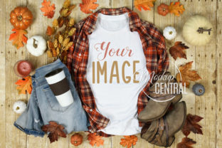 Woman's Fall Rustic T-Shirt Mockup Graphic Product Mockups By Mockup Central