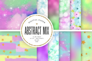 Print on Demand: Abstract Backgrounds Mix Graphic Backgrounds By Sabina Leja
