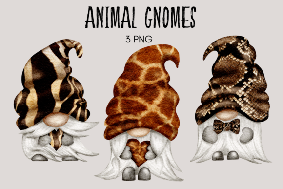 Print on Demand: Animal Print Gnomes Graphic Illustrations By Celebrately Graphics