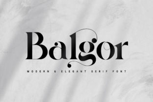 Print on Demand: Balgor Serif Font By syafbe