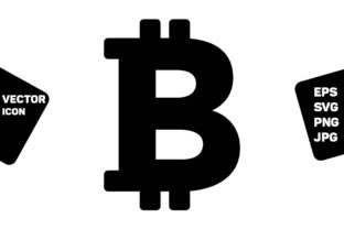 Print on Demand: Bitcoin Icon Vector Cryptocurrency Sign Graphic Icons By TukTuk Design